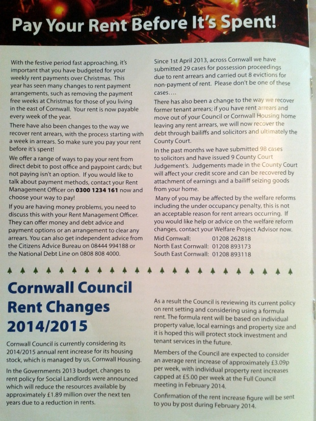 Cornwall Council tenant newsletter